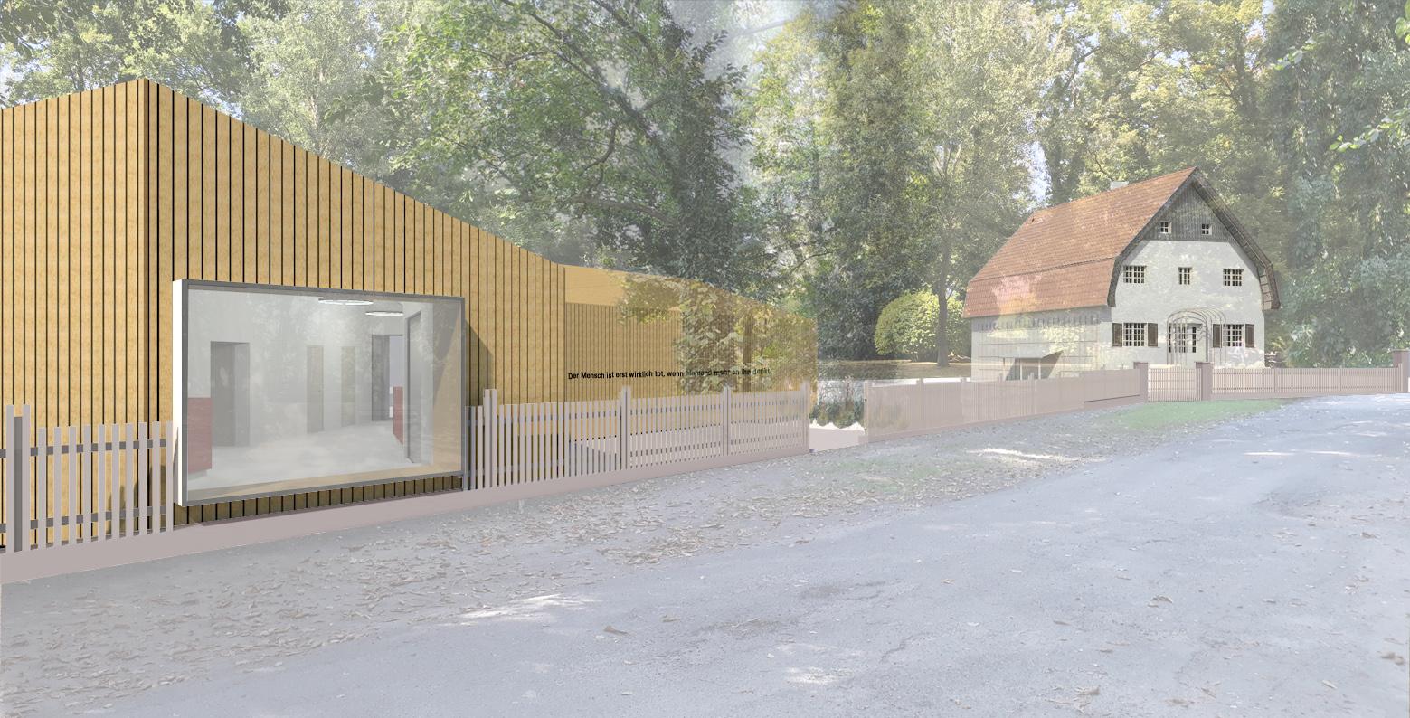 Außenperspektive Besucherzentrum Brecht Weigel Haus Buckow