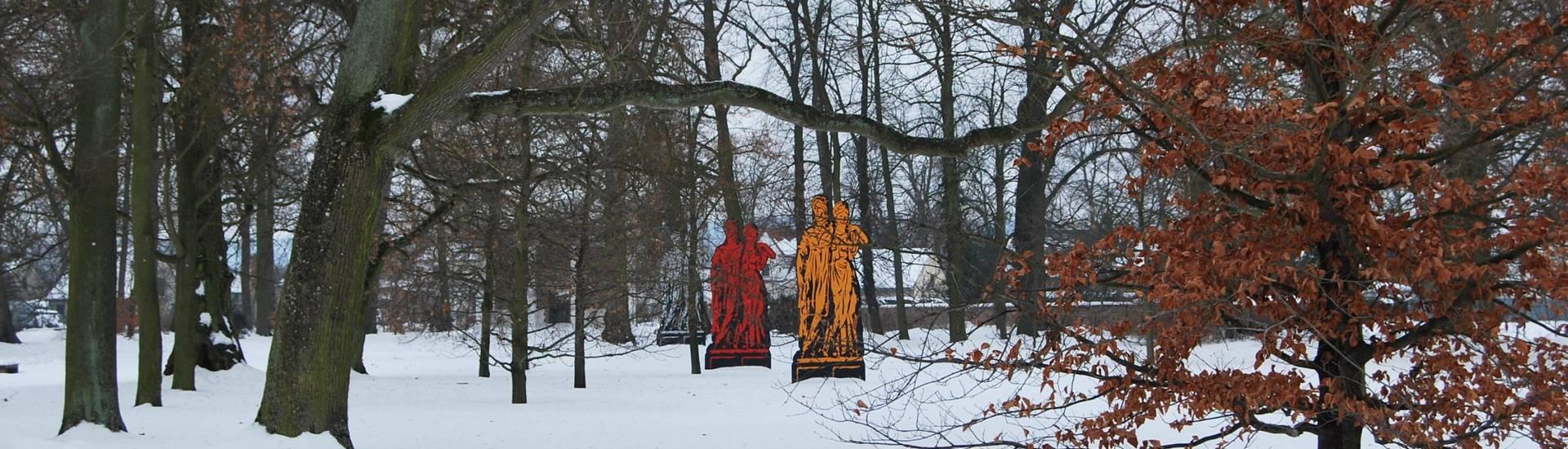 schloßpark neuhardenberg im winter renate dubben  ©Renate Dubben